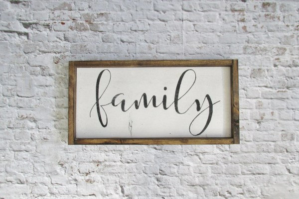 Family Wood Sign. Rustic Signs. Wall Decor. Farmhouse
