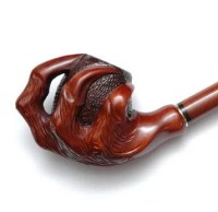 Wooden smoking pipe Handmade Wood carved smoking pipe Tobacco