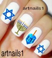 hanukkah chanukah nail art jewish