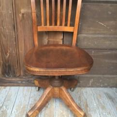 Old Wooden Desk Chair Office Mat Antique Wood