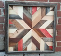 Rustic Barn Quilt Star made from Reclaimed Barn Wood
