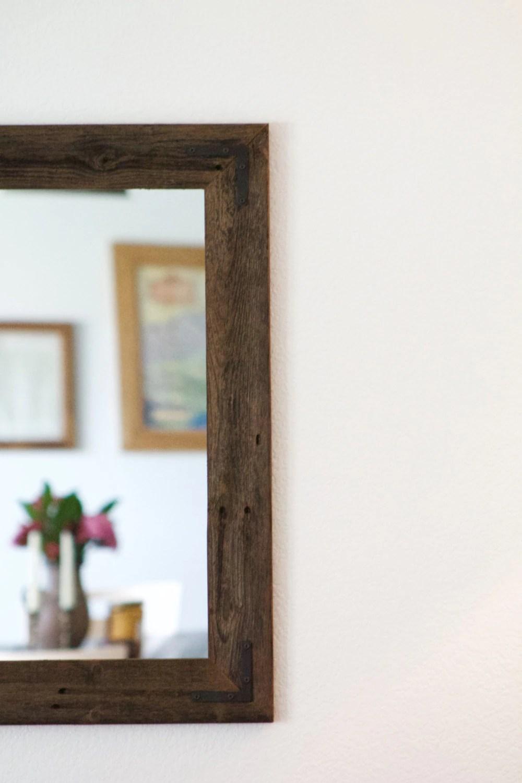 Rustic Wall Mirror Large Wall Mirror 42 x 30 Vanity Mirror