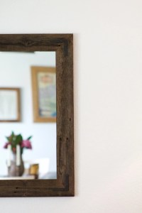 Rustic Wall Mirror Large Wall Mirror 42 x 30 Vanity Mirror