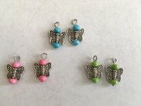 American Girl Doll Butterfly Earrings Set of 3 Pairs