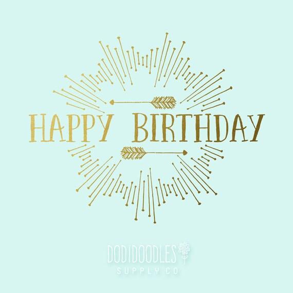 gold overlays happy birthday