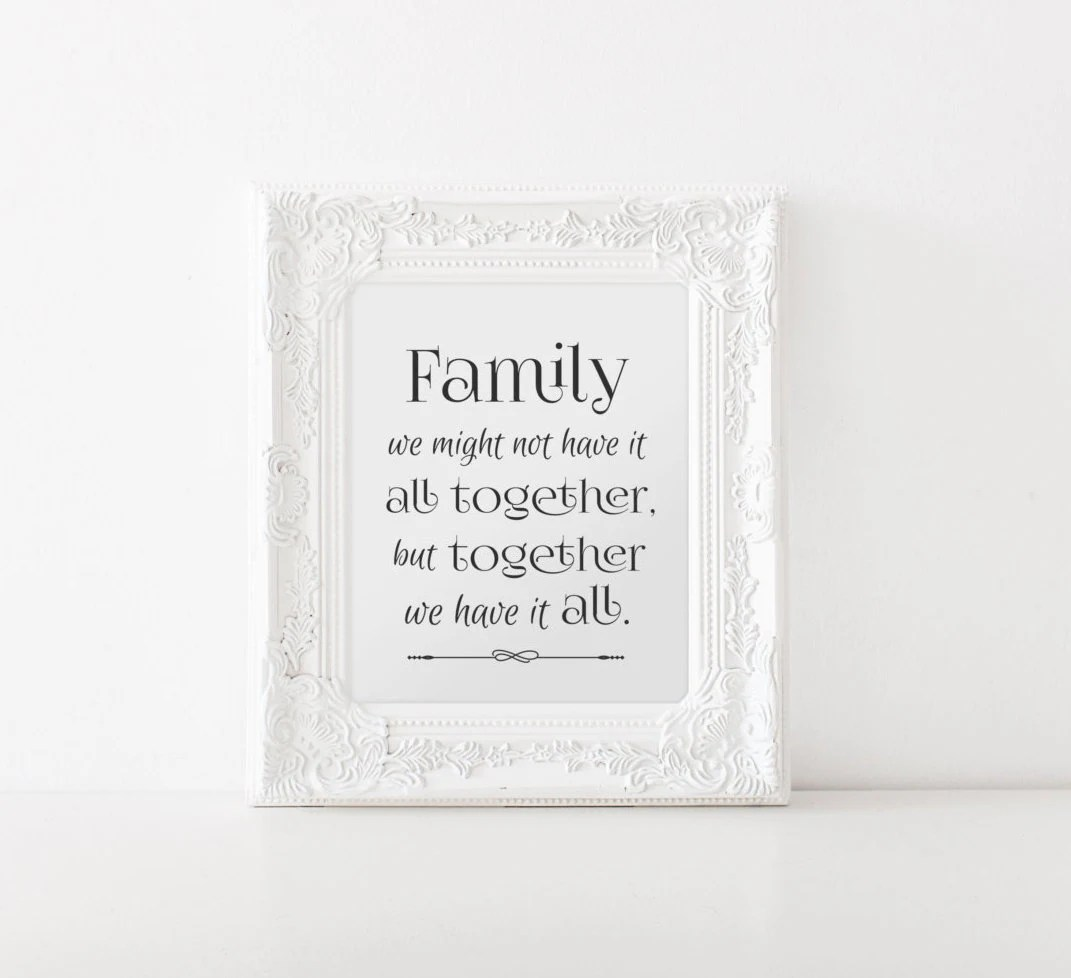 Family All Together Print Family Values Family Rules