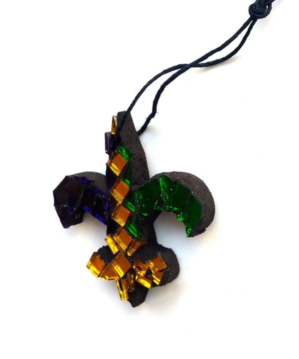 Mardi Gras Fleur De Lis Art Orleans Mosaic Samahstudios