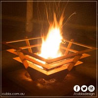 Fire Cage Fire Pit Square