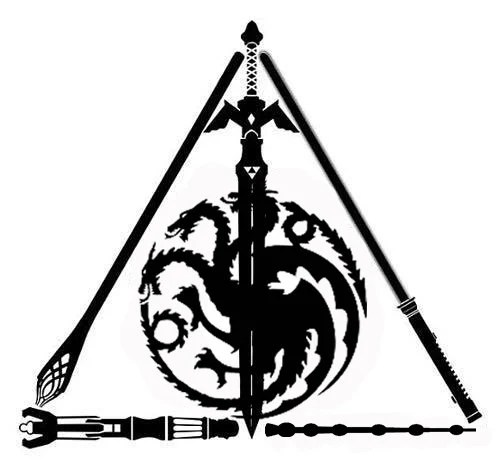 Harry Potter Deathly Hallows Decal. Star Wars. Lord of the