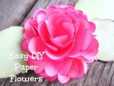 Easy DIY Paper Roses- Paper Rose template and tutorial- DIY small paper flowers- Paper bouquet- Wedding Decor- SVG files- Studio 3 files