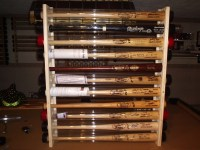 Baseball Bat Display Rack Wall Mount Holds 11 bats Great