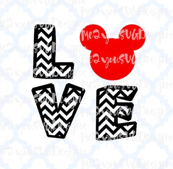 Download Love Disney Chevron SVGEPSPNGStudio