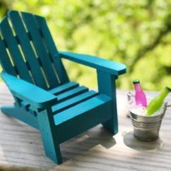 Miniature Adirondack Chairs Best Modern Rocking Chair For Nursery 1 Beach Tin Bucket Ice And Soda