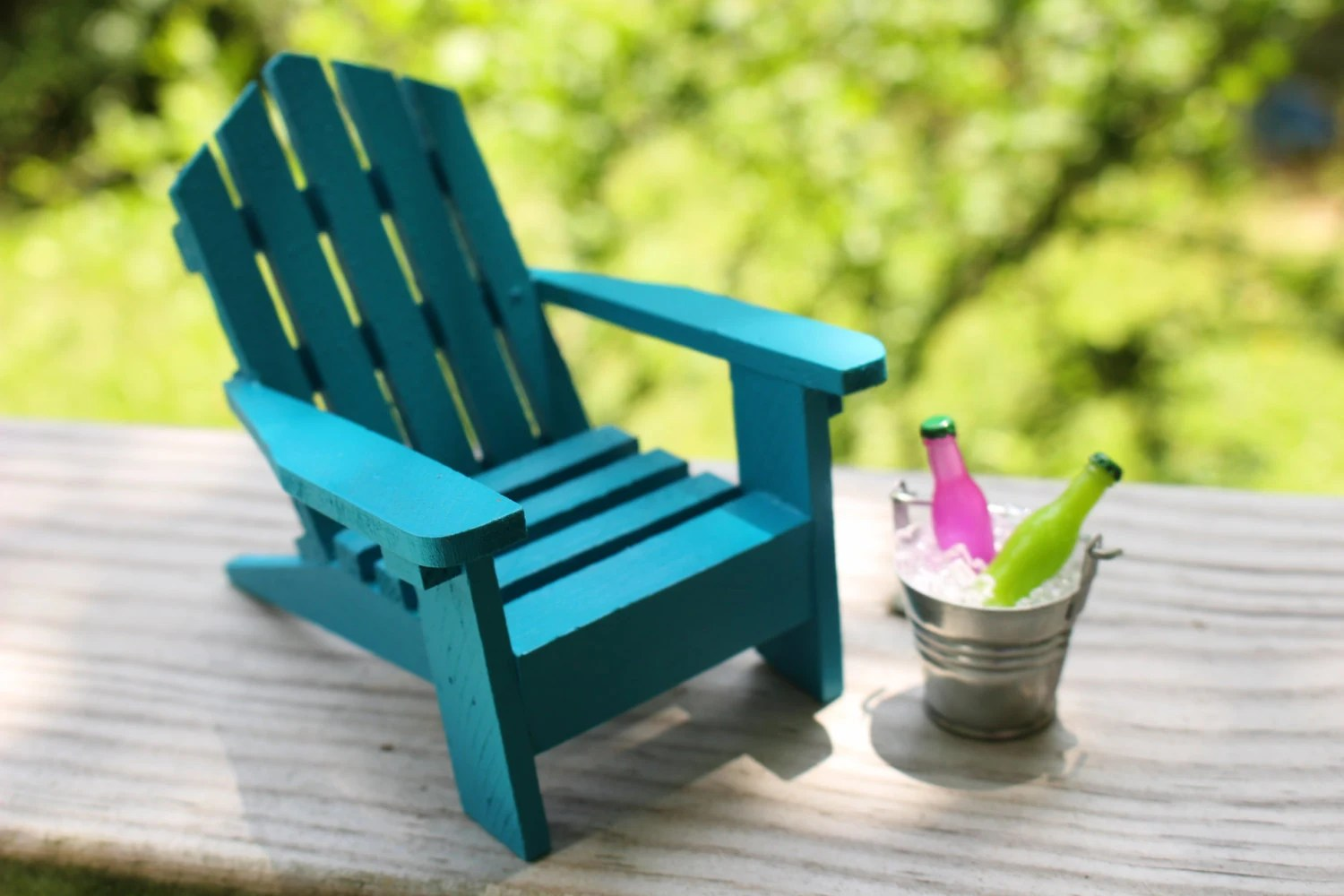 Mini Adirondack Chairs 1 Miniature Adirondack Beach Chair Tin Bucket Ice And Soda