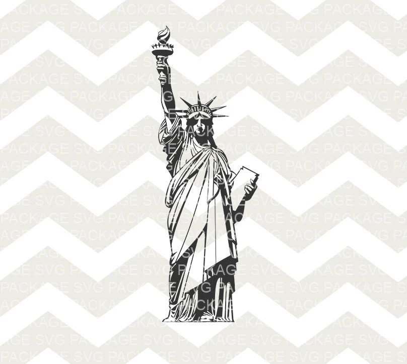 SVG Cutting File, Vector New York Statue of Liberty