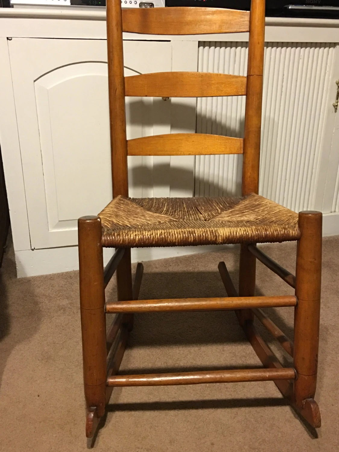 shaker ladder back chair kenny chesney blue bay song antique petite rocking with rush