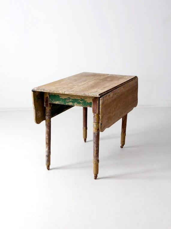 Primitive Kitchen Table Drop Leaf Farm Table