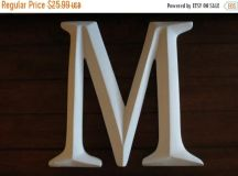 Unique large letter m related items   Etsy