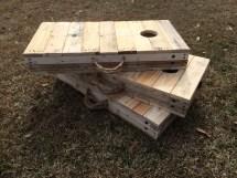 Rustic 2 3 Scale Cornhole Boards Pallet Wood