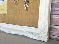 Burlap bulletin board shabby chic decor by YouMatterDesigns