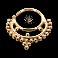 Adrisa 14k Septum Ring Gold Septum Ring Septum Jewelry