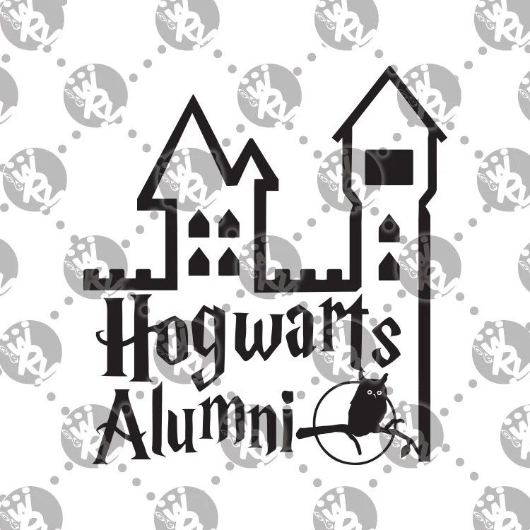 Items similar to Hogwarts Alumni Decal Harry Potter Hedwig
