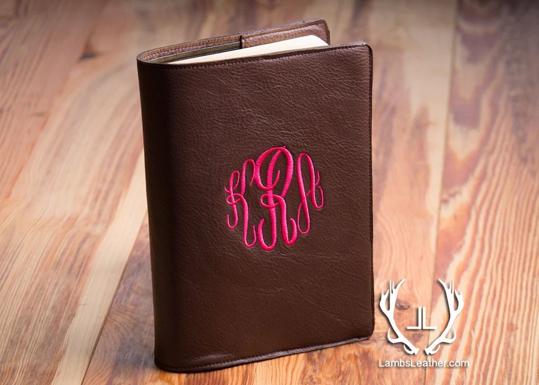 monogrammed bible cover