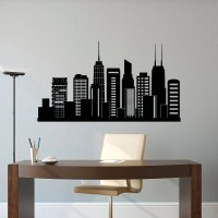 Chicago Skyline Wall Decal City Silhouette Chicago Illinois