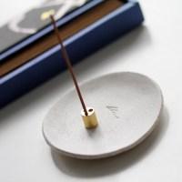 Handmade White Ceramic Incense Holder. Made in the UK. Gift