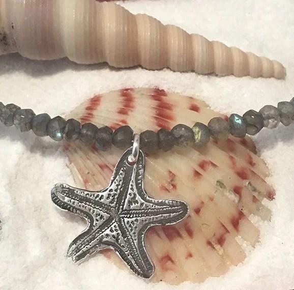Silver Starfish Pendant |...