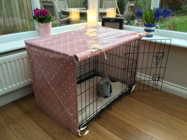 Medium Dog Crate Cover Pink Bed Pet