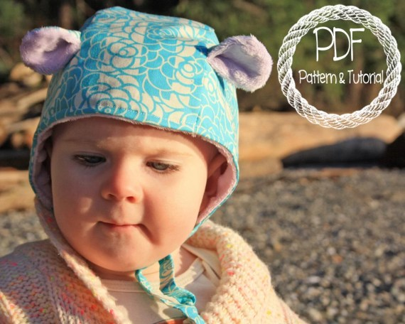 Polluted Pixie, Brimless Bonnet Pattern, Hippo Ears, DIY, Super Easy Sewing Project