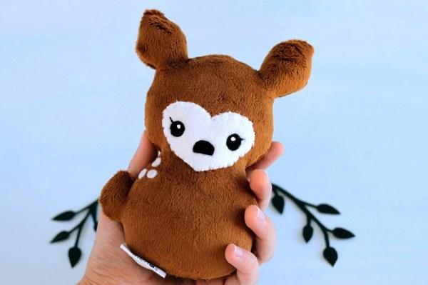Deer Plushie. Doe Stuffed Animal Fawn Softie Soft Sculpture