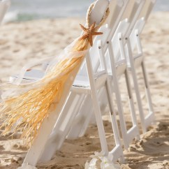 Starfish Wedding Chair Decorations Desk Throw Beach Aisle Pew Bows And By