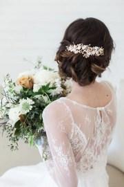 wedding hair accessories gold flower