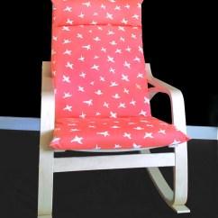 Custom Chair Covers Ikea Desk Fabric Bird Print PoÄng Cushion Cover Seat