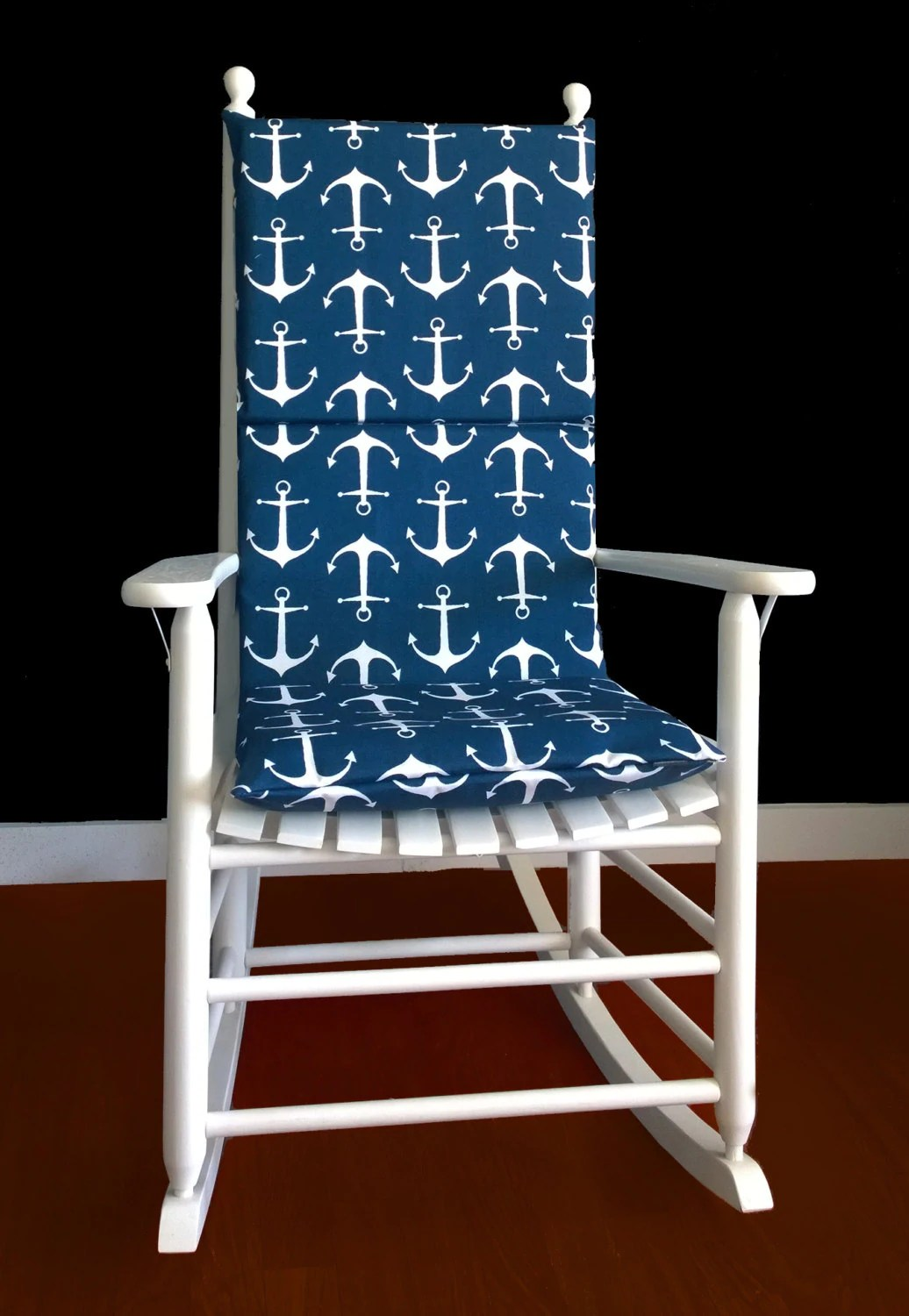 Navy Rocking Chair Rocking Chair Cushion Cover Sailor Navy Oxford By