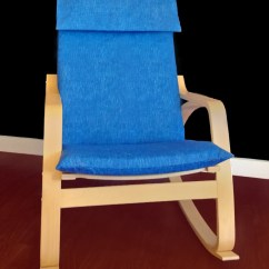 Poang Chair Covers Etsy Zero Gravity Lawn Chairs On Sale Ikea PoÄng Cushion Slipcover Blue Denim Ready To