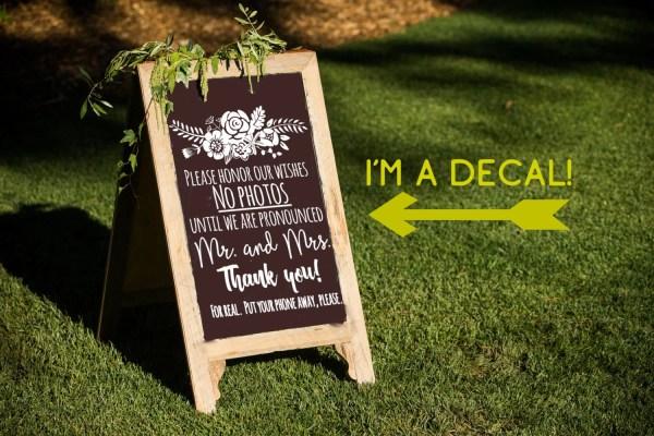 Unplugged Wedding Sign Decal Diy