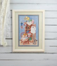 Framed Nursery Print Nursery Wall Art Print Baby Girl by YWart