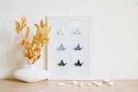 Wall Art Origami Bird Black and White art Minimalist art