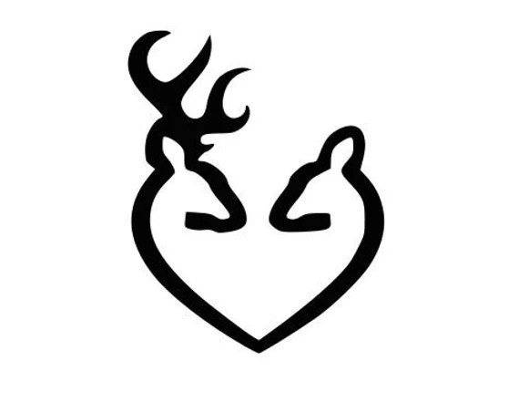Download Buck Doe Heart Hunter Love SVG File, Quote Cut File ...