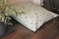Dog bed large made from waterproofed 100% cotton fabric