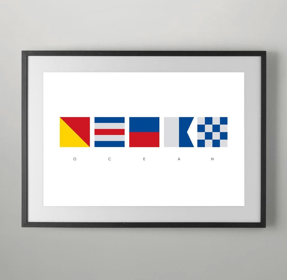 Ocean Summer International Maritime Signals Alphabet Flags