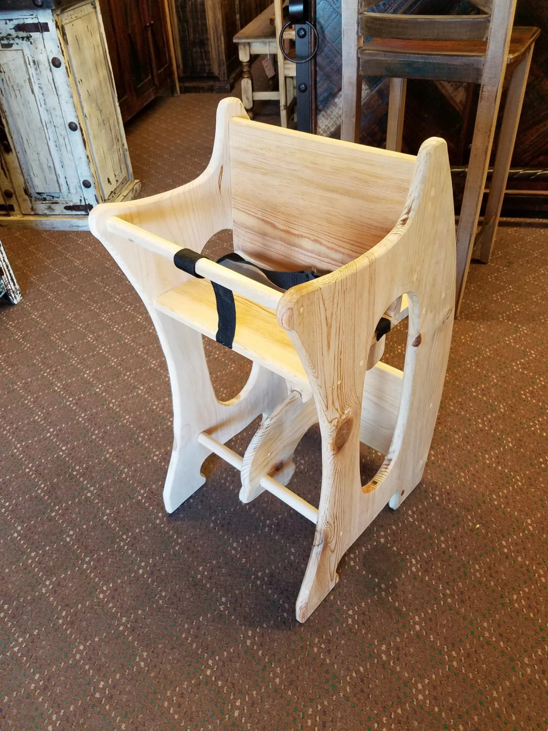 rocking horse chair desk how to make spandex covers high 3 in 1 amish design handmade