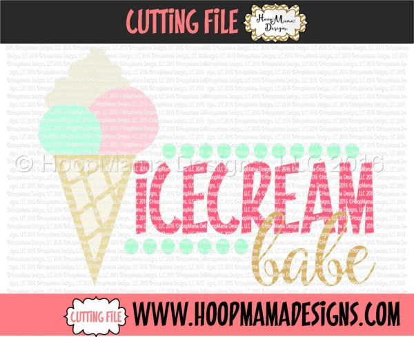 Icecream Babe Svg Dxf Eps And Files Cutting Machines
