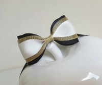 Great Gatsby bow tie/black white gold bow tie/Great Gatsby