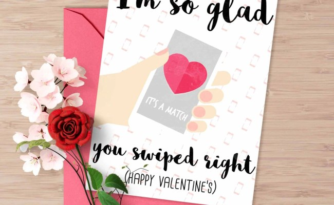 Tinder Valentine S Day Card I Am So Glad You Swiped