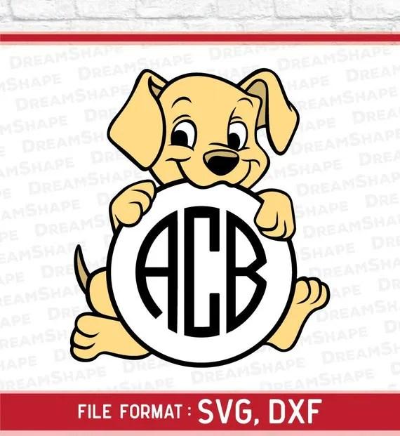 Download Dog SVG Files Dog Monogram SVG Puppy Svg File Dog Svg