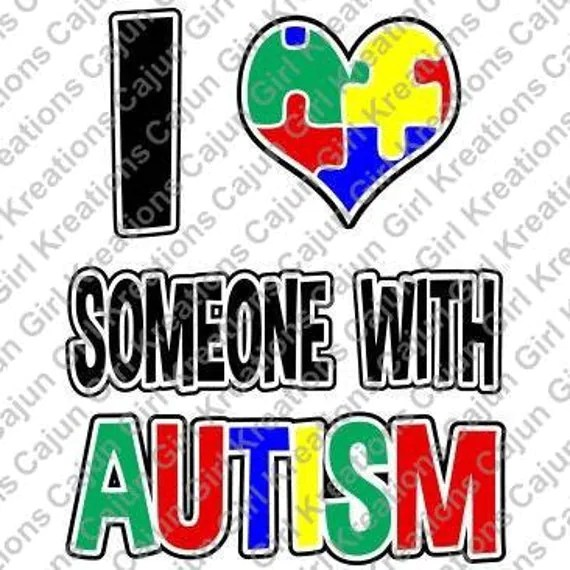 Download I love someone with Autism Printable Digital by ...